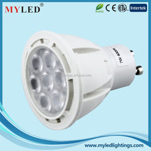 High Power GU10 Dimmable 7w Led Spot Light /Led Spot Lamp/Led Spot with 3 Years Warranty