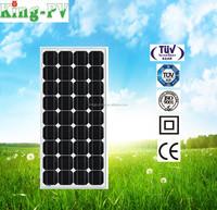 120w mono solar panel per watt price for solar panel system