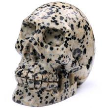 2015 popular gift hand carved skull craft