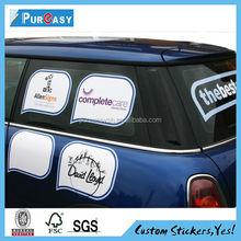 Custom printing vinyl car window decal