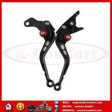KCM376 Black Aluminum Alloy Motorcycle Dirt Bike Adjustable Clutch and Brake Levers Spare Parts 17.5cm for GT250R GT650R CNC