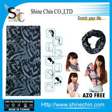 Wholesale cheap seamless printed black rendering dye scarf bandana