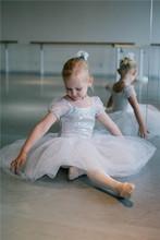 MBP0007 White fairy sequin tulle leotard ballet competition cheap ballet tutu dress