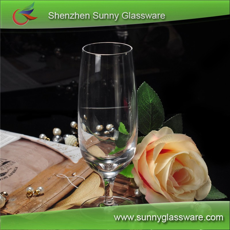 Luxury wine glass wedding champagne flute in glass