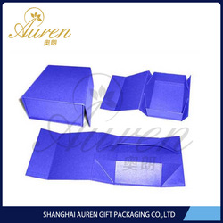 Online shopping customized foldable box for women/man/kids'clothes packaging