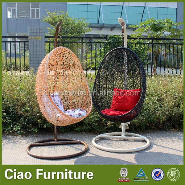 en forme d 39 oeuf rotin balan oire suspendue chaise avec support outils de jardin id de produit. Black Bedroom Furniture Sets. Home Design Ideas