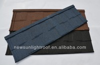 high quality Villa Roofing Tiles/Stone Coated Metal Roof Tile-Flat tile from HALIFLY
