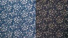 100% cotton discharge printing denim fabric with floral pattern