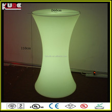 wholesale nightclub high bar tables with glass