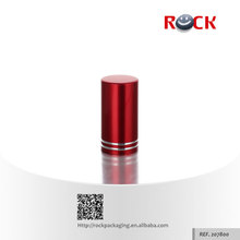 Newest design China manufacturer aluminum cap red with glass perfume bottle