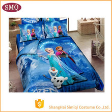 China supplier cotton twill reactive printing bedding set Wholesale comforters children frozen anna elsa bedding set