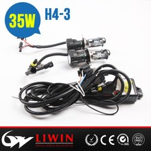 Best price CE RoHS approved hid hi lo kit H4 3 4300K 6000K 8000K 10000K for Tribeca auto mini jeep head lights
