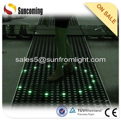 Various patterns for clients disco panel interactive black led dance floor
