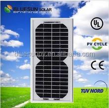Mono 5w 12v china cheap pv solar panel small in dubai with TUV/CE/IEC/UL certificates