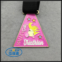 Colorful Figure Design Metal Medal with Riboon