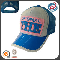 PVC bill embroidery patch five panels mesh caps trucker hats