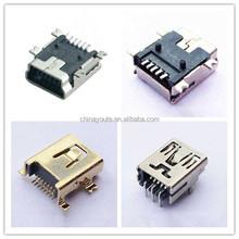 Four Pegs Mini USB 5Pin B type female connector