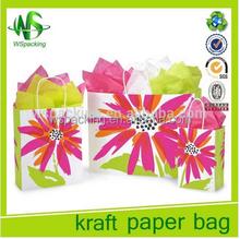 Christmas decorative flower kraft gift bags