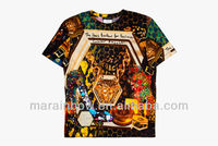 Fashion Italy Custom sublimation print t shirt wholesale with cheapest price