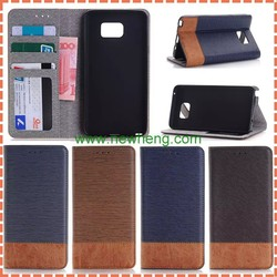 Hight Quality Cross Pattern leather case for samsung note5 with Credit Card