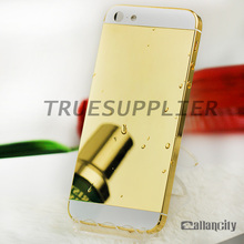 24kt gold plating limited edition shiny gold mirror finished back cover housing for iphone5