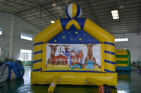 Cartoon Style Inflatable Bouncy Castle Bounce House For Kids