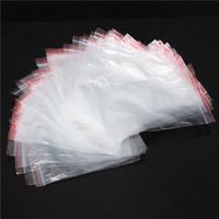 200pcs Jewelry Ziplock Zip Zipped Lock Reclosable Plastic Poly Clear Bags Vacuum Bag