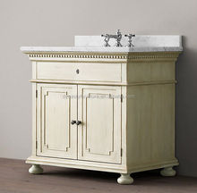 classic bathroom cabinet/ antique cabinet with marble top