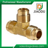 High qulity and loew price Zhejiang manufacture forged yellow brass color metric male brass tube fitting for water