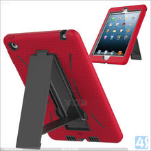 Hot Selling PC Silicon 3 in 1 Holster Combo Cover for iPad mini 4, For iPad mini 4 Cover Case With Kickstand