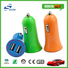 SCGK logo factory supply promotional mini dual usb car charger for mobile phnes car accessories made in china
