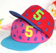 Custom Printig Numbers Snapback Cap Hat Baby Hat Snapback Cap