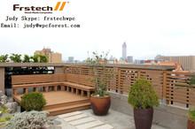 2015 new design outdoor wpc fence wood plastic composite Garden fencing