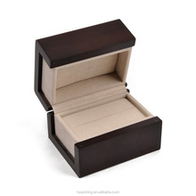 wholesale custom design printed wood engagement ring box, jewelry packaging box