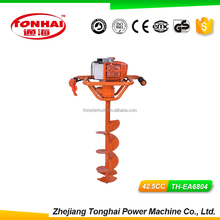 TH-EA6804 52CC gas powered post hole digger for tree transplanting 2 man earth auger