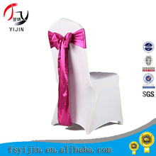 Wholesale factory low price and best quality cheap chair covers organza sashes for wedding