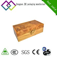 Authentic gold-rimmed nanmu ripples wooden jewerly ring gift packing box