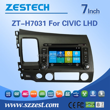 Fm radios audio multimidea car dvd gps system player For HONDA OLD CIVIC LHD support BT Phone DTV DVR SWC