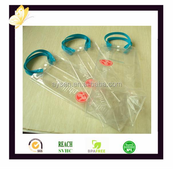 OEM 투명한 PVC 플라스틱 와인 선물 가방 공장 공급