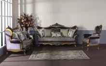 dark purple velvet luxury hand carving sofa