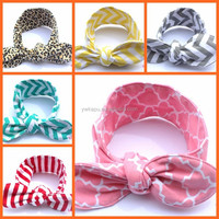 Infant Baby Cotton Stripe Knot Headband Baby Hairband Colorful Children Headband