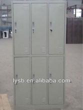 2012 London Olympic game public 6 door steel locker cabinet