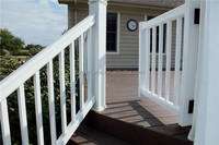 1.5mx1m wood plastic composite (wpc) picket fence temporary fence