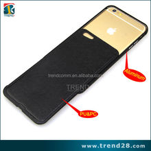 Three in one pu leather case for iphone 6 with various uses