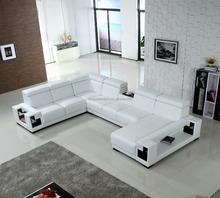 Simple living room 6 seater sofa real leather sofa set design