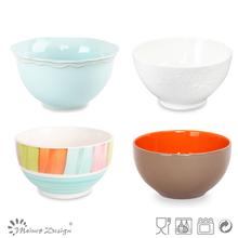 Atacado de sopa cerâmica/cereais/saladeiras conjunto, branco <span class=keywords><strong>porcelana</strong></span> tigelas de arroz, todos os tipos de faiança