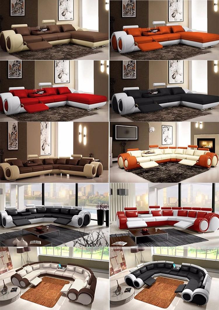 Alibaba moderne ontwerp lederen europese stijl l of u vormige sofa ...