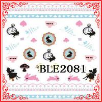 K002 (5) Profashional 2D Mini Adorable Cartoon Rabbit Style 50 Sheets Nail Water Transfer Print Decals