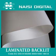 NAISI brand Laminated backlit flex banner for advertising printing material 610gsm
