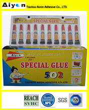 1g cyanoacrylate glue in Aluminum tubes packing ,3 seconds setting time Super Glue
